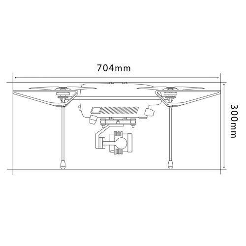 PF-Mini-Vision 建物・インフラ点検ドローン 側面図