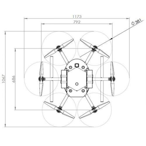 PF2-Delivery 物流・宅配ドローン 寸法図
