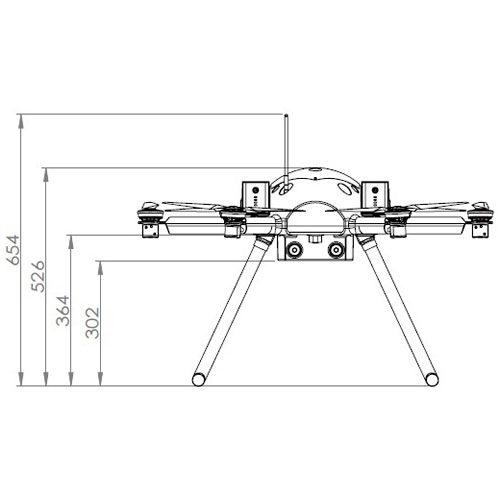 ACSL-PF2 産業用プラットフォーム 寸法図