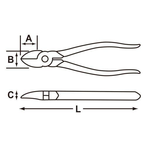 ニッパー J206Gの図面