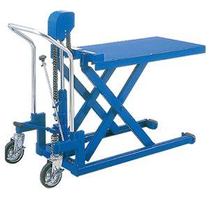 ダンディリフト スチール製超低床 500kg 超低床リフト台車(テーブルタイプ) M-500L