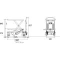 ダンディリフト 150kg 電動リニア台車 PLM-150 寸法図を表示する