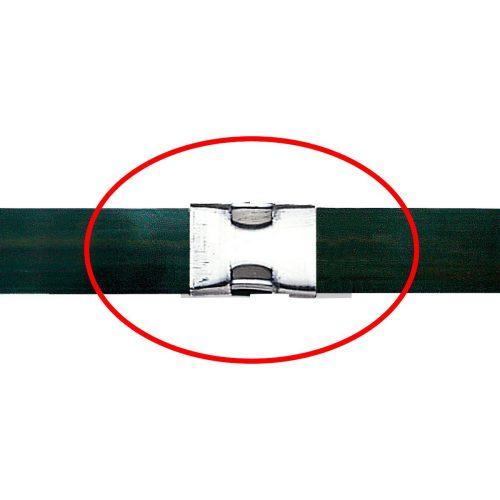 帯鉄用空圧式シーラー OR-V 40 P(シングルアップノッチタイプ) 帯鉄バンド結束後のイメージ