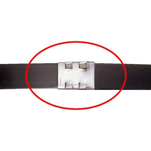 帯鉄用コンビネーション型結束機 A482 帯鉄バンド結束後のイメージ