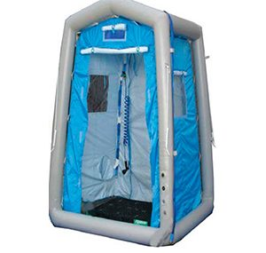 Tents for emergency/disaster Decon shower system