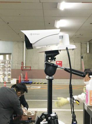 顔認識AI 発熱検知バレット型カメラ 設置例
