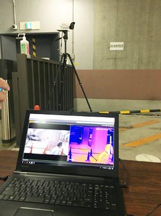 顔認識AI 発熱検知バレット型カメラ サーモグラフィ表示